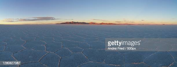 scenic view of land against sky during sunset, daniel campos, potosi department, bolivia - potosí potosí department stock pictures, royalty-free photos & images