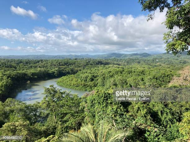 scenic view of land against sky - guanacaste stock pictures, royalty-free photos & images