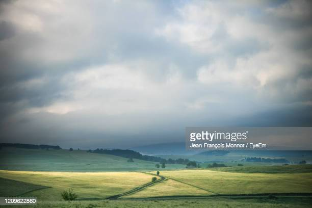 scenic view of land against sky - auvergne rhône alpes stock pictures, royalty-free photos & images