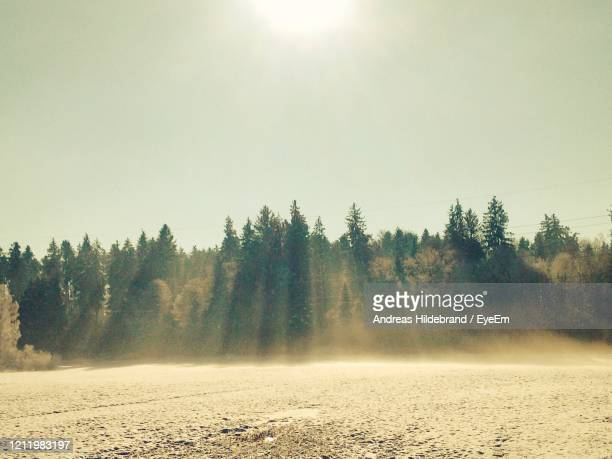 scenic view of land against sky - andreas solar stock pictures, royalty-free photos & images