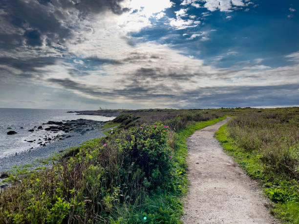 Scenic view of land against sky,Newport,Rhode Island,United States,USA