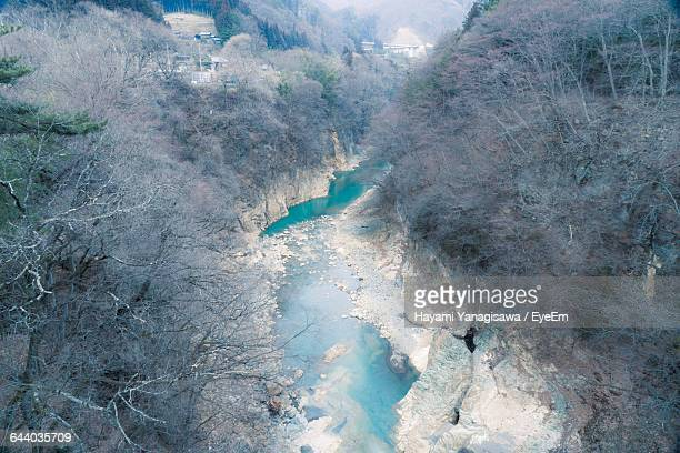 scenic view of landscape against blue sky - gunma prefecture stock photos and pictures
