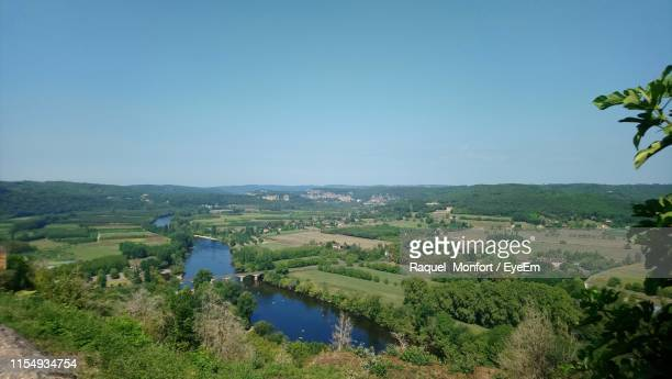 scenic view of landscape against clear sky - ペリグー ストックフォトと画像