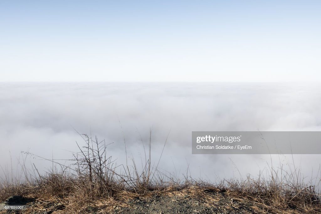 Scenic View Of Landscape Against Clear Sky : Foto de stock
