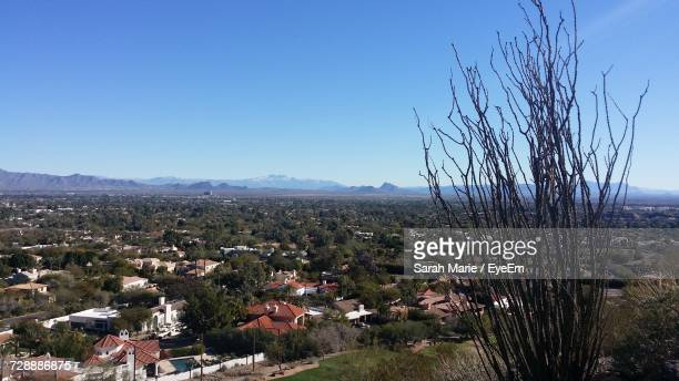 scenic view of landscape against clear sky - phoenix marie photos stock pictures, royalty-free photos & images