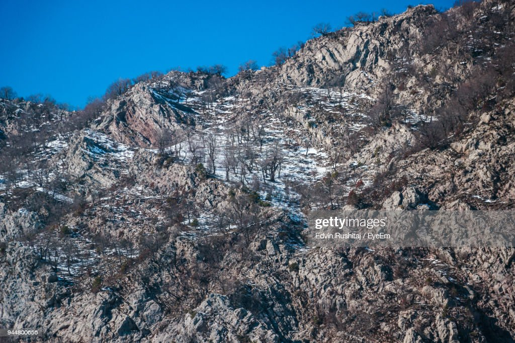 Scenic View Of Landscape Against Clear Sky : Stock Photo