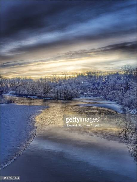 scenic view of landscape against cloudy sky - howard,_wisconsin stock pictures, royalty-free photos & images