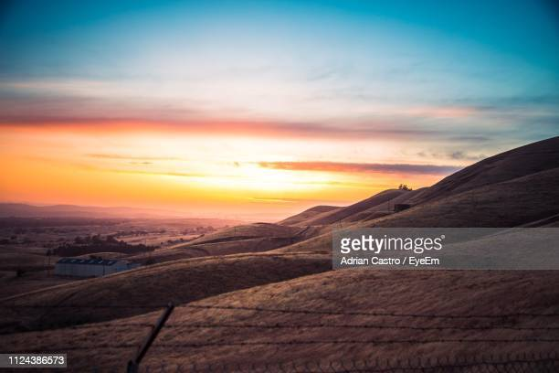 scenic view of landscape against sky during sunset - concord california stock pictures, royalty-free photos & images