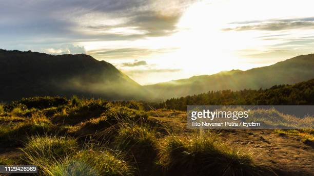 scenic view of landscape against sky during sunset - east java province stock pictures, royalty-free photos & images