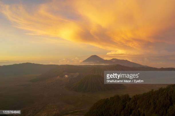 scenic view of landscape against sky during sunset - shaifulzamri stock pictures, royalty-free photos & images