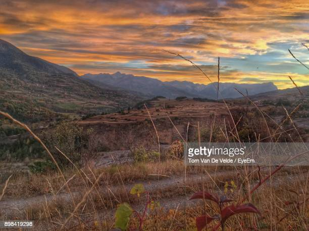 scenic view of landscape against sky during sunset - embrun stock pictures, royalty-free photos & images