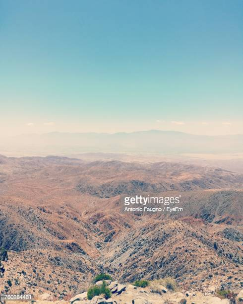 scenic view of landscape against sky during winter - indio california stock pictures, royalty-free photos & images
