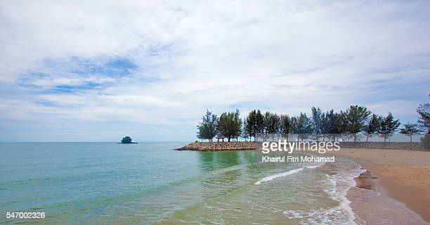 scenic view of landscape against sky in brunei - bandar seri begawan stock photos and pictures