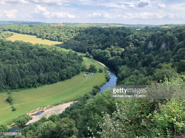 scenic view of landscape against sky - chepstow stock pictures, royalty-free photos & images