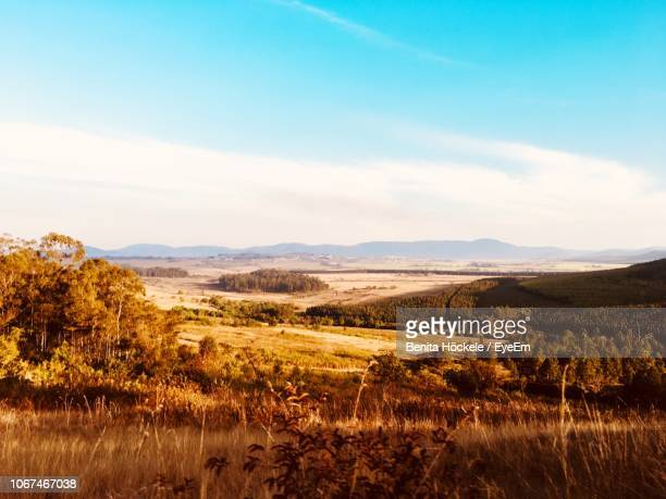 scenic view of landscape against sky - swaziland stock pictures, royalty-free photos & images