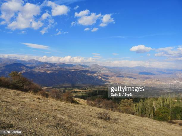 scenic view of landscape against sky - sivas stock pictures, royalty-free photos & images