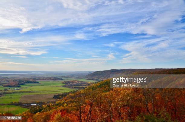 scenic view of landscape against sky - gatineau stock pictures, royalty-free photos & images
