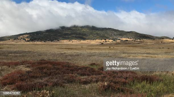 scenic view of landscape against sky - julian california stock photos and pictures