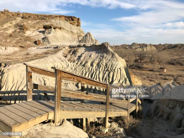 scenic view of landscape against sky - fossil site stock pictures, royalty-free photos & images