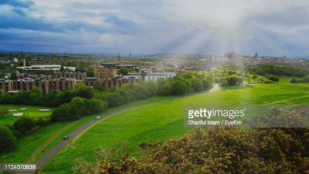 scenic view of landscape against sky - dundee scotland stock pictures, royalty-free photos & images