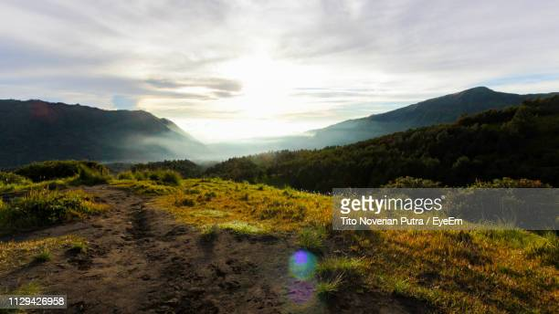 scenic view of landscape against sky - east java province stock pictures, royalty-free photos & images