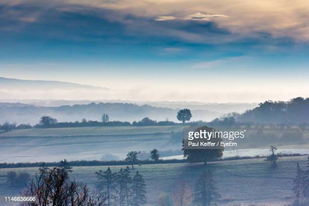 scenic view of landscape against sky - keiffer stock pictures, royalty-free photos & images