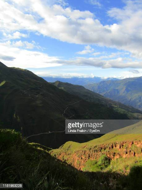 scenic view of landscape against sky - linda fraikin stock pictures, royalty-free photos & images
