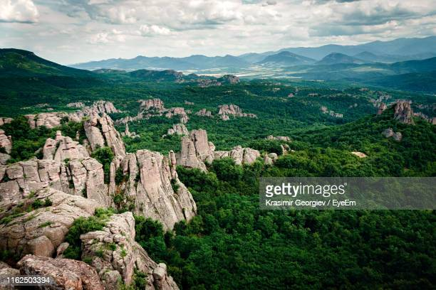 scenic view of landscape against sky - krasimir georgiev stock photos and pictures