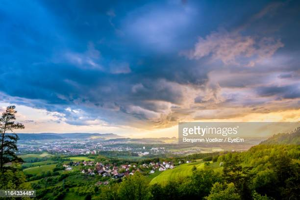 scenic view of landscape against sky - baden württemberg stock pictures, royalty-free photos & images