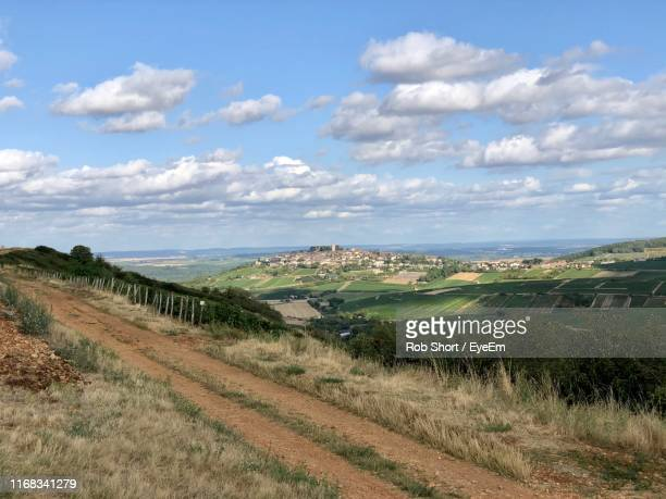 scenic view of landscape against sky - cher stock pictures, royalty-free photos & images