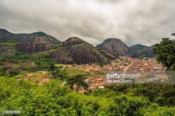scenic view of landscape against sky - nigeria stock pictures, royalty-free photos & images