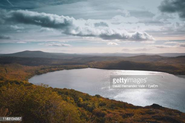 scenic view of landscape against sky - zamora stock pictures, royalty-free photos & images
