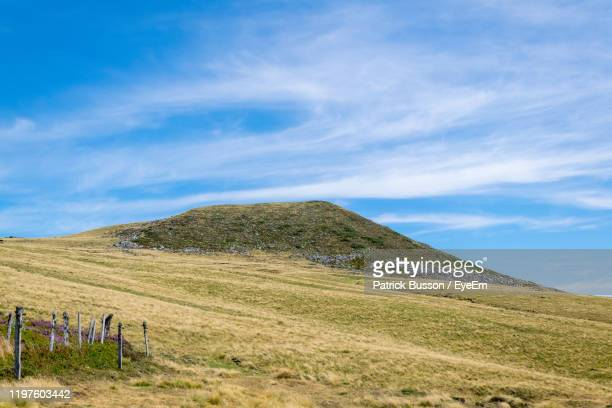 scenic view of landscape against sky - auvergne rhône alpes stock pictures, royalty-free photos & images
