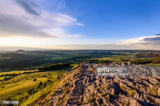 scenic view of landscape against sky - hesse germany stock pictures, royalty-free photos & images