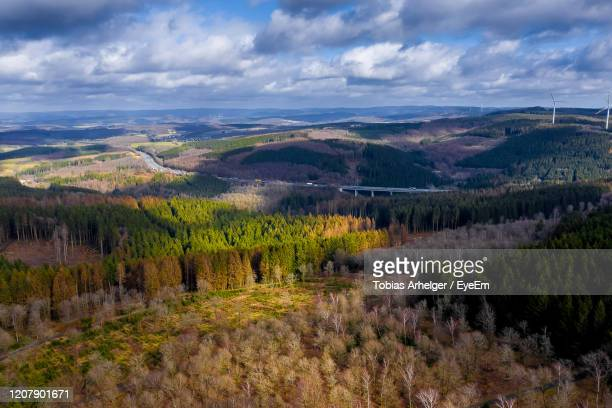 scenic view of landscape against sky - north rhine westphalia stock pictures, royalty-free photos & images