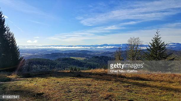 scenic view of landscape against sky - neu stock pictures, royalty-free photos & images