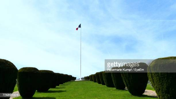 scenic view of landscape against sky - flagpole stock pictures, royalty-free photos & images