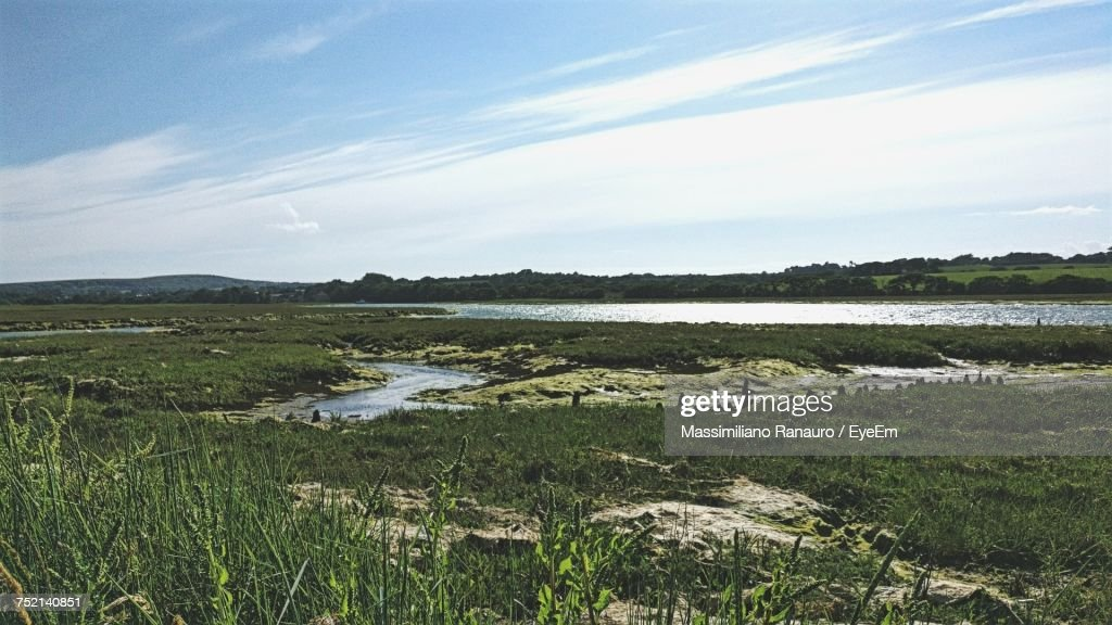 Scenic View Of Landscape Against Sky : Stock Photo