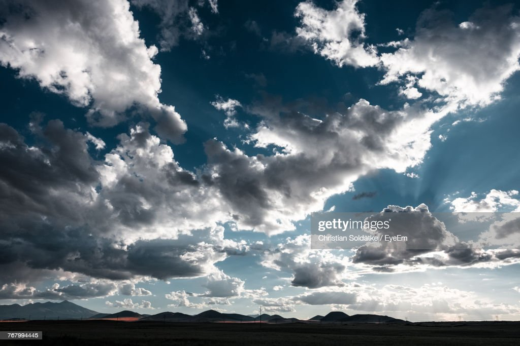 Scenic View Of Landscape Against Sky : Stock-Foto