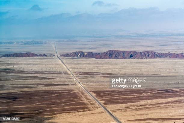 scenic view of landscape against sky - nazca lines stock pictures, royalty-free photos & images