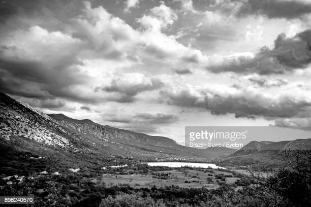 scenic view of landscape against sky - drazen stock pictures, royalty-free photos & images