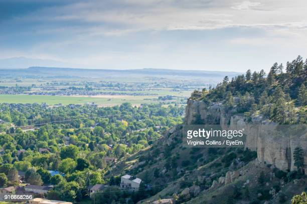 scenic view of landscape against sky - billings montana stock pictures, royalty-free photos & images