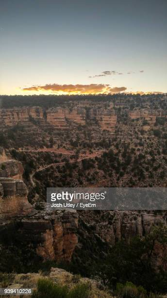 scenic view of landscape against sky - josh utley stock pictures, royalty-free photos & images