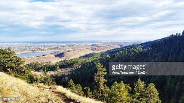 scenic view of landscape against sky - fort collins stock pictures, royalty-free photos & images