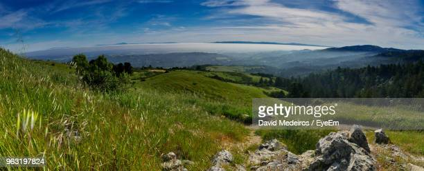 scenic view of landscape against sky - palo alto stock pictures, royalty-free photos & images