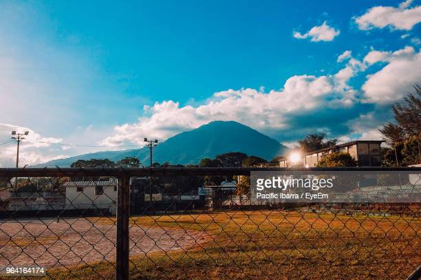 scenic view of landscape against sky - el salvador stock pictures, royalty-free photos & images