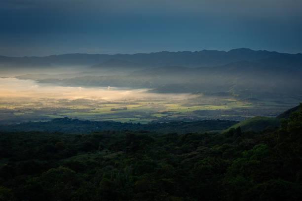 Scenic view of landscape against sky,Carr al cerro verde,El Salvador