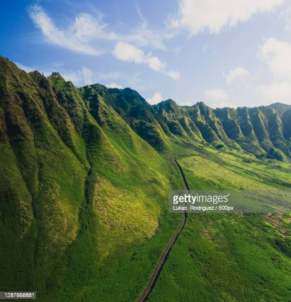 scenic view of landscape against sky,hawaii,united states,usa - category:census-designated_places_in_honolulu_county,_hawaii stock pictures, royalty-free photos & images