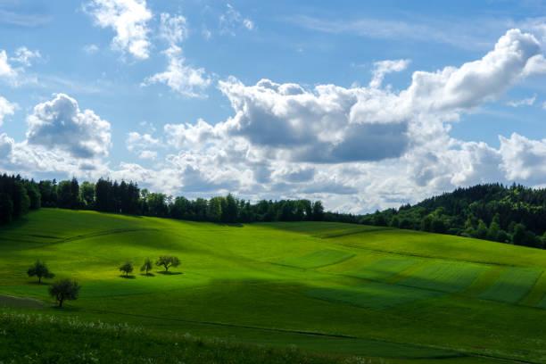 Scenic view of landscape against sky,Moosbronn,Gaggenau,Germany