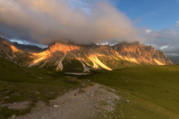 Scenic view of landscape against sky,Selva di Val Gardena,Bolzano,Italy